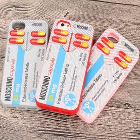 3D Pill Silicone Card Phone Case for iPhone 7 7 Plus 6s 6 Plus