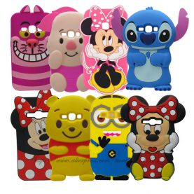 For Samsung Galaxy J1 2016 J120 J120F J1 2016 SM-J120F Phone Cases 3D Cartoon Minnie Mickey Mouse Silicone Rubber back cover