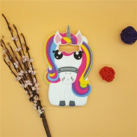 3D Cartoon Rainbow Unicorn Case Silicon White Horse Cover for Samsung Galaxy Core Prime G360 & J1 2015 J100 & J1 Ace J1ace J110