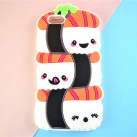 3D Cute Sushi Silicone Case for For iPhone 5 5s SE 6 6s 7 6 Plus 7 Plus Case