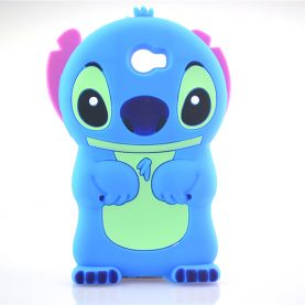 For Huawei Y5 II /Y5 2 3D cute Cartoon Soft Rubber silicon Stitch Case Folding of the Ear