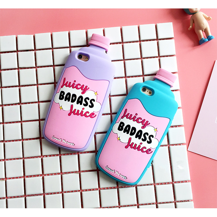 buy popular ffb10 8cbf4 For iPhone7 Fashion Cute Juicy Badass Juice Soft Silicon Rubber TPU Phone  Case Cover for iPhone 6 6S 7 Plus Coque Capa Luxury