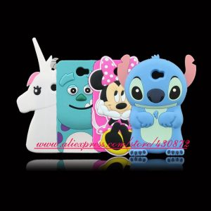 For-Huawei-Y5-ii-Hot-3D-Silicon-Sulley-Minnie-Stitch-Unicorn-Cartoon-Soft-Phone-Back-Skin