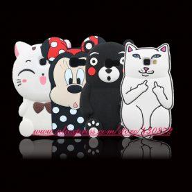 For Samsung Galaxy A5 2017 Case 3D Silicon Cat Minnie Stitch Cartoon Soft Phone Back Skin Cover for Samsung A5 2017 A520 A520F