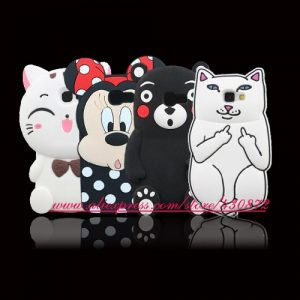 For-Samsung-Galaxy-A5-2017-Case-3D-Silicon-Cat-Minnie-Stitch-Cartoon-Soft-Phone-Back-Skin