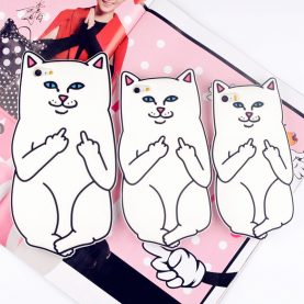 New Contempt Pocket Cat for Cats in the Pocket of the Cat Cases For 6 6s 6Plus SE 5s 5 7 7Plus 4 4s