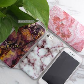 For iPhone 5 5s/SE/6 6s/7 7Plus Case Marble Stone Pattern Soft Flexible TPU Slim Case Cover Cell Phone Cases