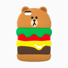 3D bear hamburg Silicone Case for iPhone 7 7 Plus 6s 6 Plus SE 5s 5