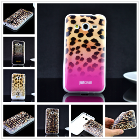 For Samsung Galaxy Core Prime G360 G3606 G3608 Luxury Puro Just Cavallis Leopard / Snake Print TPU Case Cover Phone Case