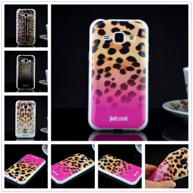 For Samsung Galaxy J1 2015 J100 Luxury Puro Just Cavallis Leopard / Snake Print TPU Case Cover Phone Case