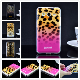 For Samsung Galaxy Core 2 G355 G355h G3559 Luxury Puro Just Cavallis Leopard / Snake Print TPU Case Cover Phone Case