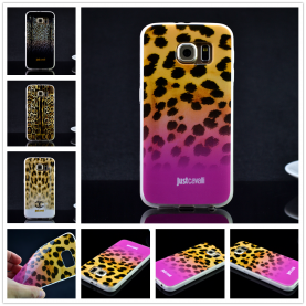 For Samsung Galaxy S6 G920 Luxury Puro Just Cavallis Leopard / Snake Print TPU Case Silicon Cover