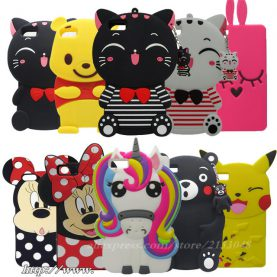 For Huawei Ascend P8 Lite 3D Cartoon Color Ice Cream Cup Silicon Cover Phone Case