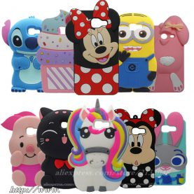 Samsung Galaxy J3 2017 US Version 3D cartoon unicorn Minnie Stitch Cover for Samsung J3 Prime Phone Case