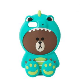 LINE FRIENDS New Korean 3D Dinosaur Brown Bear Case for iPhone 7 7plus 6 6s 6plus Bear in Tiger Costumes Back Case