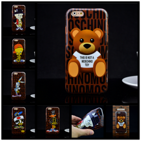 Cute Cartoon Brown Bear Duck Rabbit Soft TPU Luxury Brand Case for iphone 6 6s 6Plus 6s Plus Phone Case Cover Shell Cell phone case
