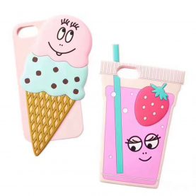 For iPhone 6 6s 7 6 Plus 7 Plus Summer ice Cream Strawberry juice Cartoon Silicone Phone Cases Covers