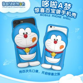 For iPhone  6 6s 7/ 6 Plus 6s Plus 7 Plus Doraemon Silicone Rubber Cell Phone Cases Covers