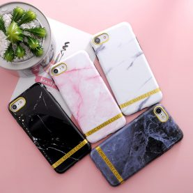Marble Phone Case For iphone 6 6s 8 6/7/8 plus Granite Scrub Stone image Painted Silicone Phone Case For iphone 7 case