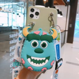 FOR Xiaomi Redmi Cover Monster University Wallet Bag Soft TPU Silicone Case