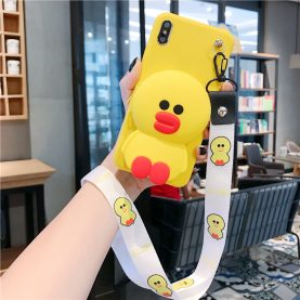 FOR Xiaomi Redmi Cover LINE FRIENDS Duck Wallet Bag Soft TPU Silicone Case