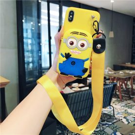 FOR Xiaomi Redmi Cover MINIONS Wallet Bag Soft TPU Silicone Case