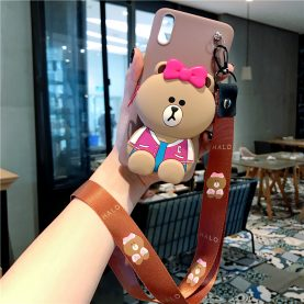 FOR Xiaomi Redmi Cover LINE FRIENDS BEAR Wallet Bag Soft TPU Silicone Case