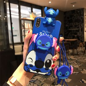 For Samsung Galaxy Case Stitch Phone Case TPU With Stand Holder Phone Strap Rope