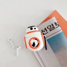 Cartoon Star Wars R2D2 BB-8 For Airpods 1 2 For AirPods Pro Silicone Case Protective Cover Pouch Anti Lost Protector with keychain