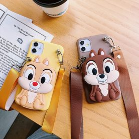 FOR Xiaomi Redmi Cover Chip 'n' Dale Wallet Bag Soft TPU Silicone Case