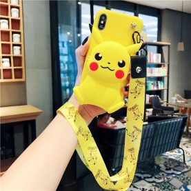 FOR Xiaomi Redmi Cover PIKACHU Wallet Bag Soft TPU Silicone Case