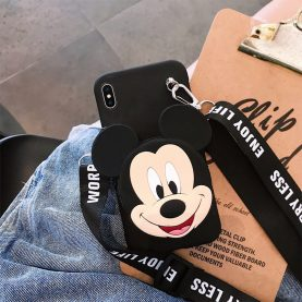 FOR SAMSUNG GALAXY Cover STITCH MINNIE MICKEY Wallet Bag Soft TPU Silicone Case