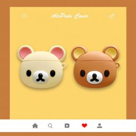 Rilakkuma For Airpods 1 2 For AirPods Pro Silicone Case Protective Cover Pouch Anti Lost Protector with keychain